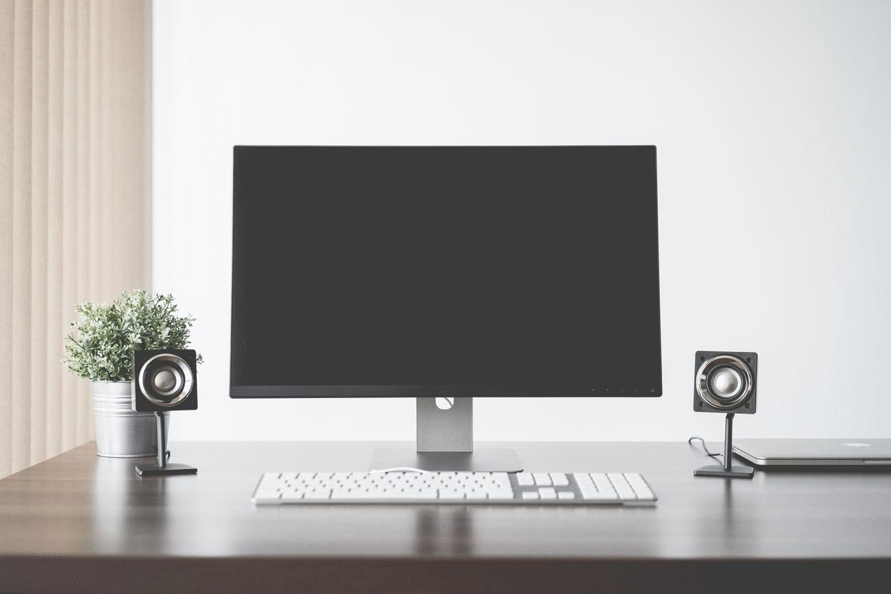 Minimalistic and Clean Home Office Computer Setup